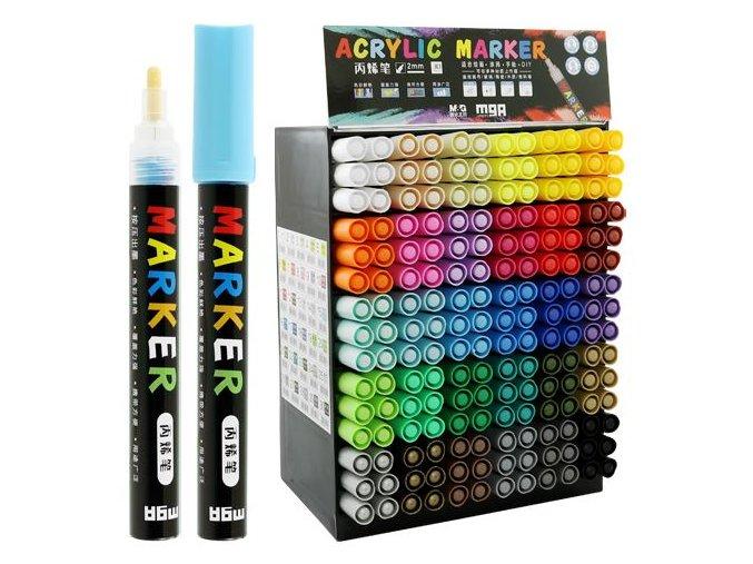 dekoracni popisovac m g akrylovy 2mm mix barev displej 30 barev x 6 ks