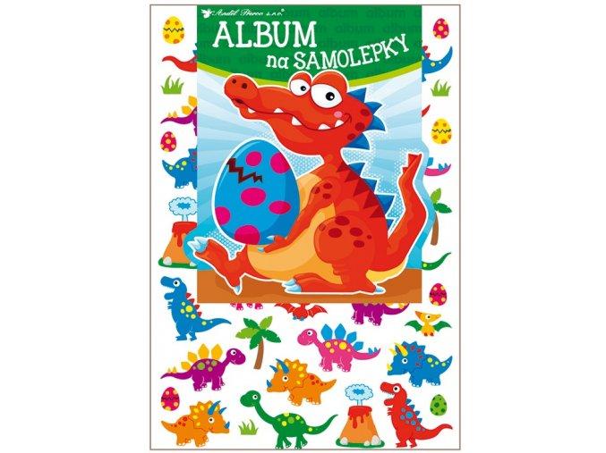 Album na samolepky hologram 45 samolepek 16x29 cm, dinosauři 15067