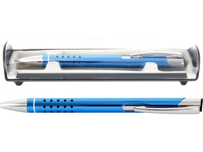 Psací souprava Veno rubber kuličkové pero světle modrá
