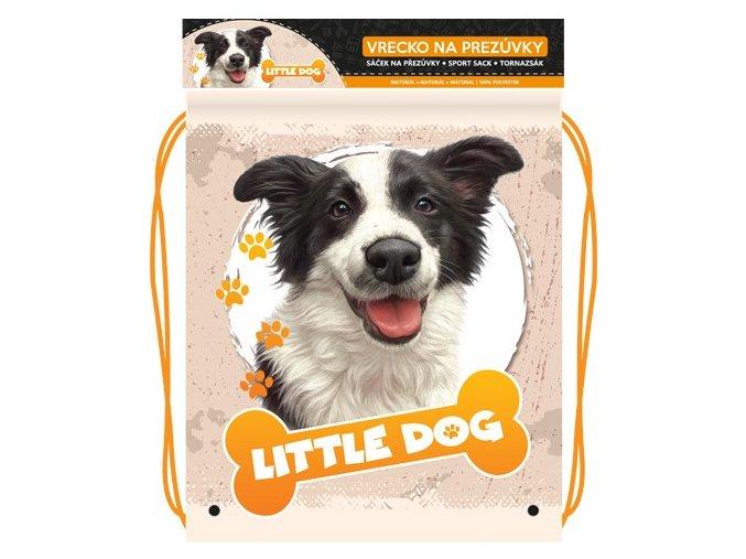 Vrecko na prezuvky s potlačou - Seria 4 - Little Dog