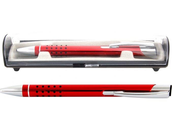 Psací souprava Veno rubber kuličkové pero červená