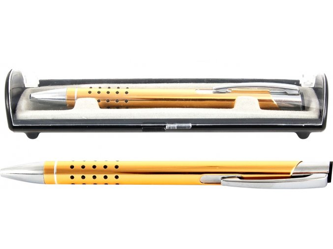 Psací souprava Veno rubber kuličkové pero žlutá - 2 POSLEDNÍ KUSY -