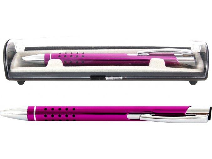 Psací souprava Veno rubber kuličkové pero fialová