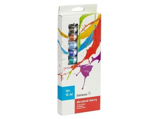 Akrylové barvy 12ks Edelweiss