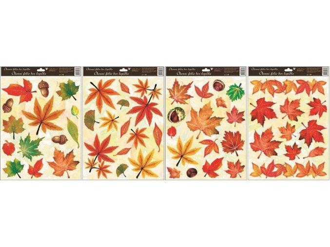 Okenní fólie podzimní listí 872, 42x30cm
