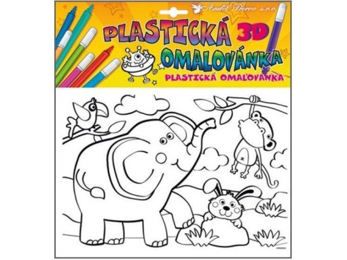 Plastická omalovánka zvířátka 10025, 29x27cm