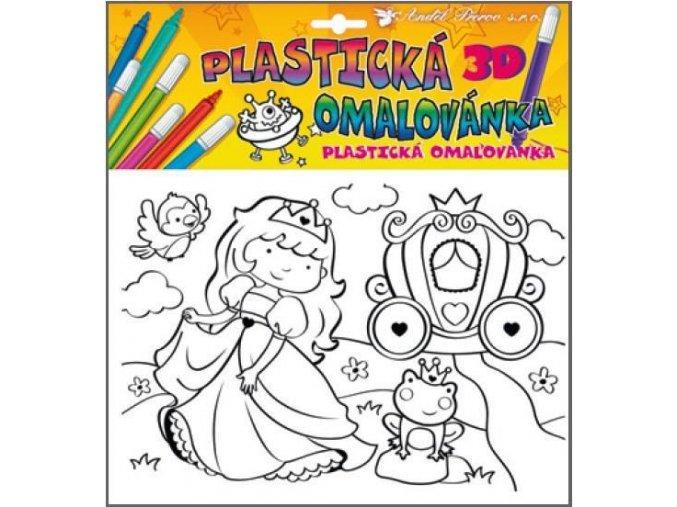 Plastická omalovánka princezny 10027, 29x27cm