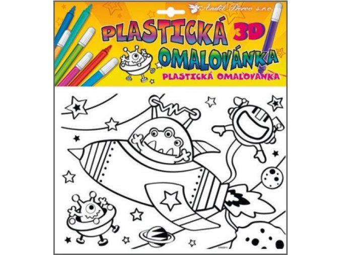 Plastická omalovánka vesmír 10028, 29x27cm