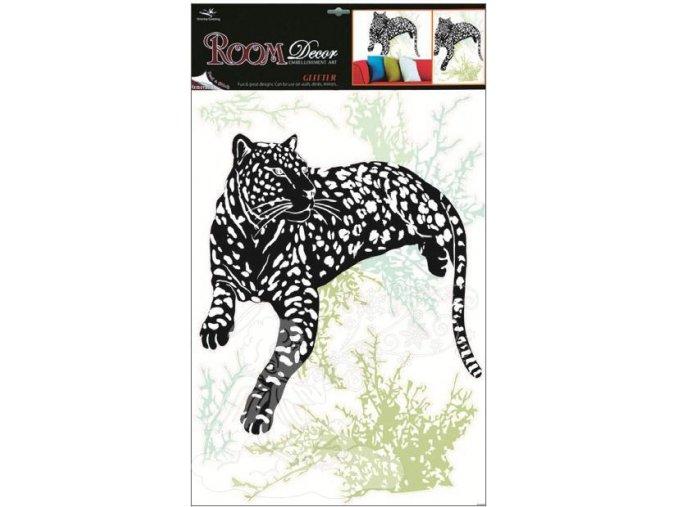 Pokojová dekorace černá leopard 938, 70x42cm