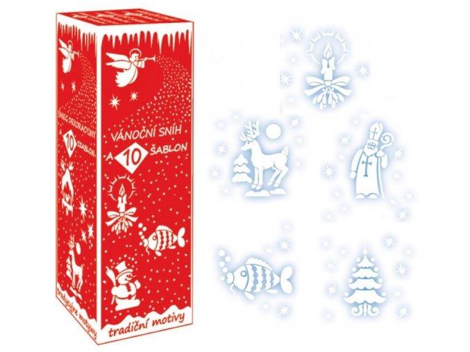 Sníh-sprej 150 ml s 10 šablonami 100