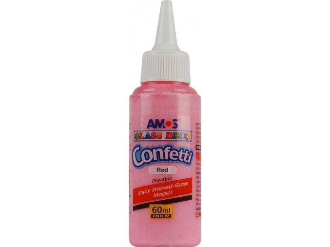 Barvy na sklo 60 ml s konfetami jednotlivě 5 odstínů