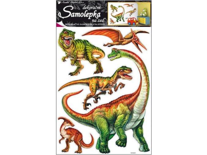 Samolepky na zeď dinosauři 10036, 70x42cm
