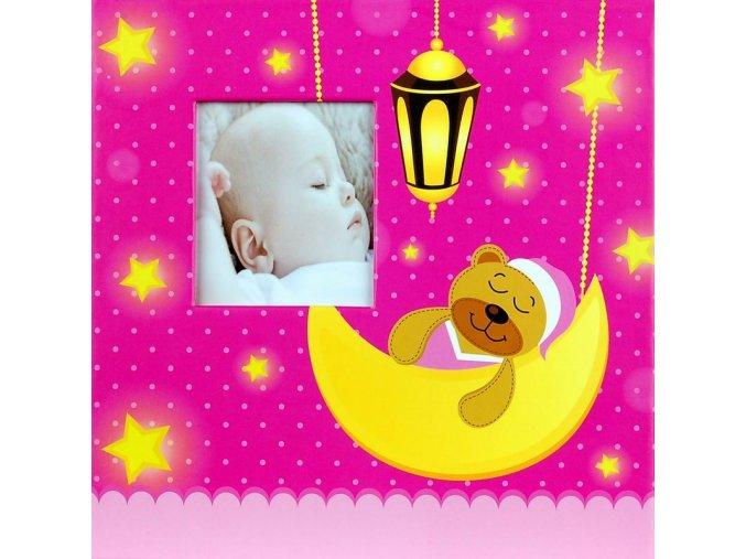 Fotoalbum 10x15/200foto Baby 35 růžový - 2 POSLEDNÍ KUSY -