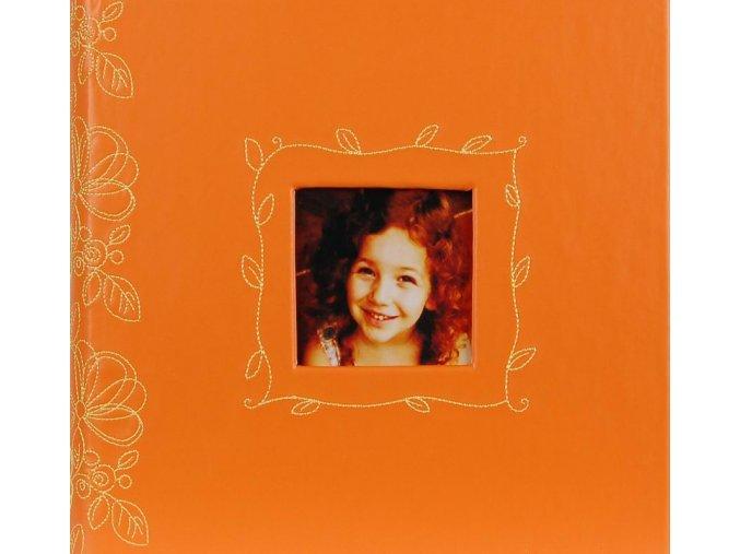 Fotoalbum 10x15/200foto Decor 206 oranžový - 2 POSLEDNÍ KUSY -