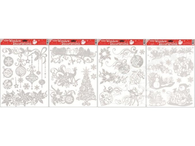 Fólie více motivů se stříbrnými glitry 305, 42x30cm