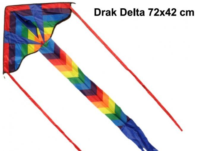 Létajicí drak Delta Šipka nylon 72 x 42 cm