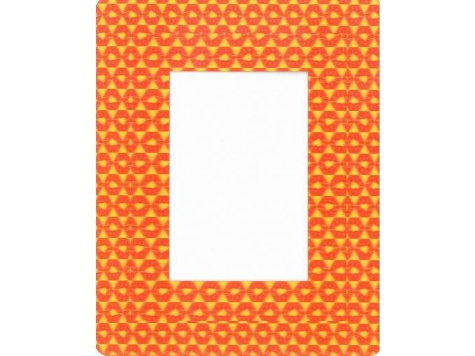 Fotorámeček 10x15 3D samolepicí 6 oranžovožlutý