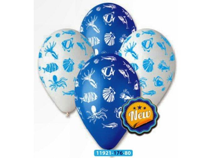 Balónek nafukovací s potiskem mořský svět