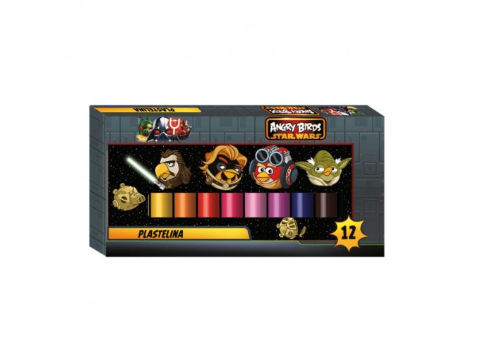 Plastelína 12 barev Angry Birds