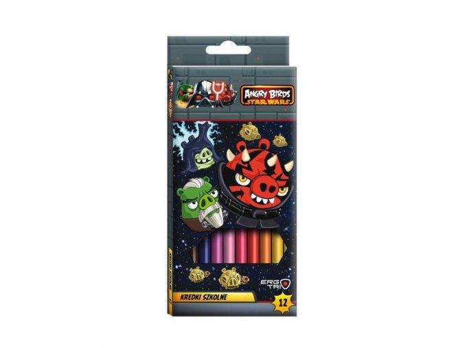 Pastelky 12ks trojhranné Angry Birds