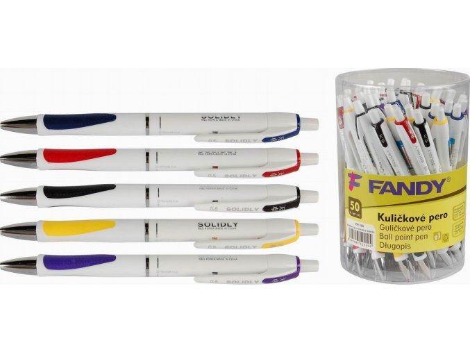 Kuličkové pero Solidly White mix barev