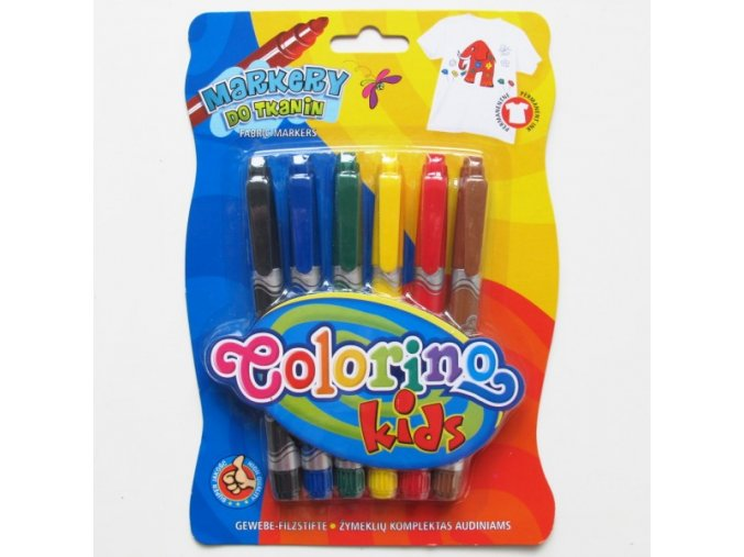 Fixy 6ks Colorino na textil - 2 POSLEDNÍ KUSY -