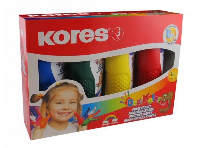 Prstové barvy Dedi Kolor 4 barvy po 150ml ,set Kores