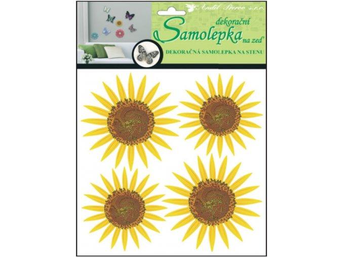 Samolepky na zeď 3D slunečnice 10155 , 30x22x1cm, 4ks