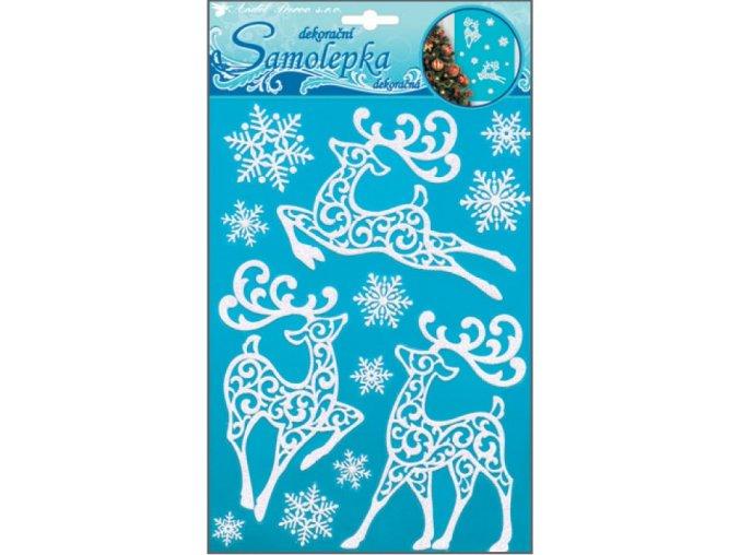 Samolepky sobi se sněhovým efektem s glitry 10505 , 26x18,5cm