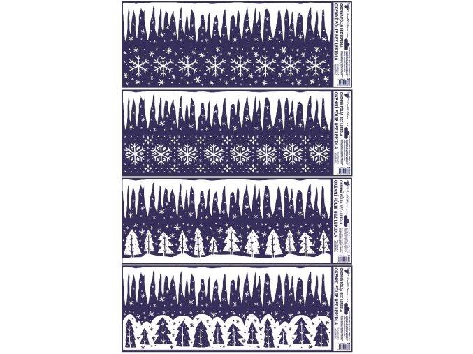 Fólie okenní rampouchy 449 , 60x22cm