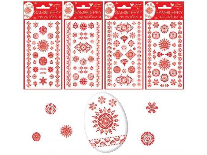 Samolepky velikonoční gelové červené 19 x 9cm 833