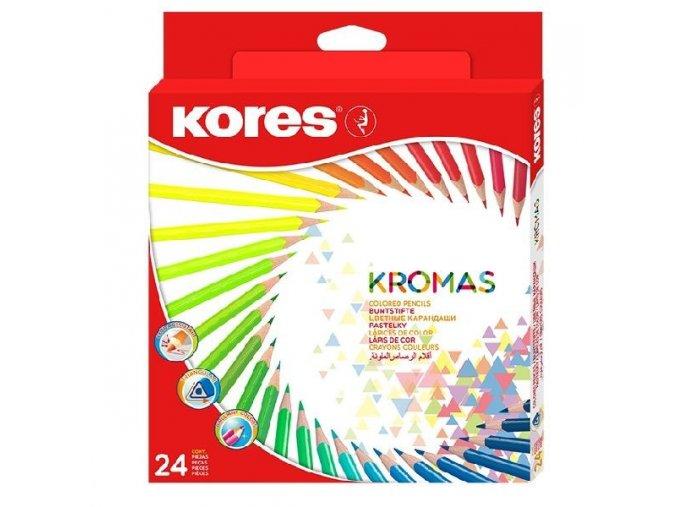 Trojhranné pastelky Kromas 24ks , 3mm 93392