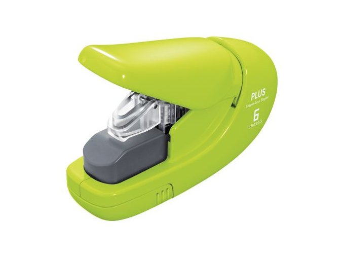 Sešívačka PLUS Paper Clinch mini 106AB (na 6 listů) zelená