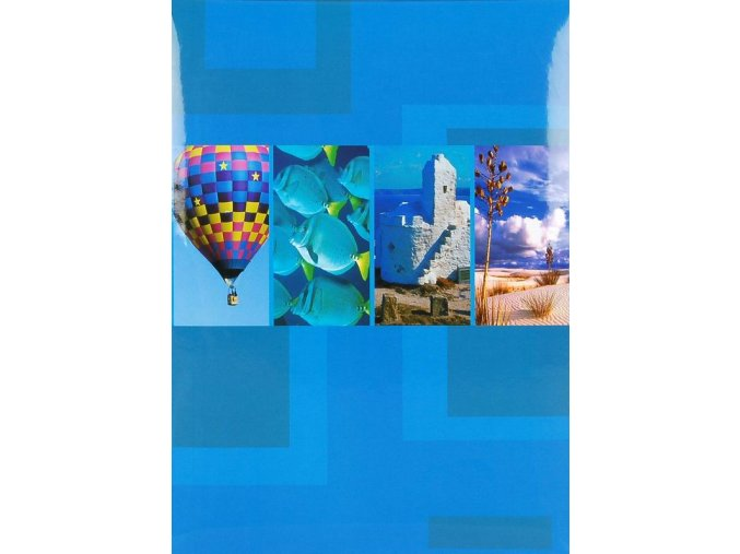 Fotoalbum 10x15/200foto B-46200S(PL) Elements modrý