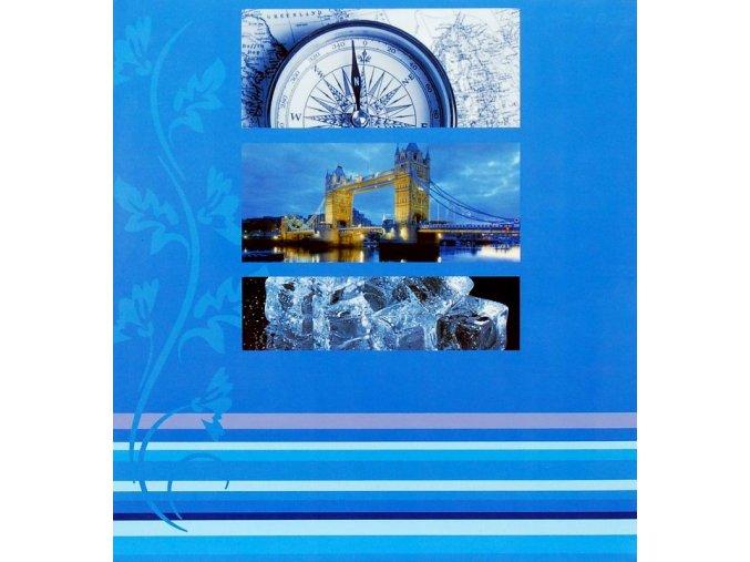 Fotoalbum 10x15/200foto B-46200S Brigdes modrý