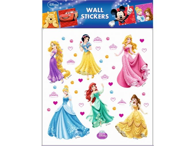 Samolepky na zeď Disney Princezny 21080 , 30x39cm