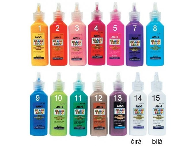 Barvy na sklo 22 ml-jednotlivé GDcolour
