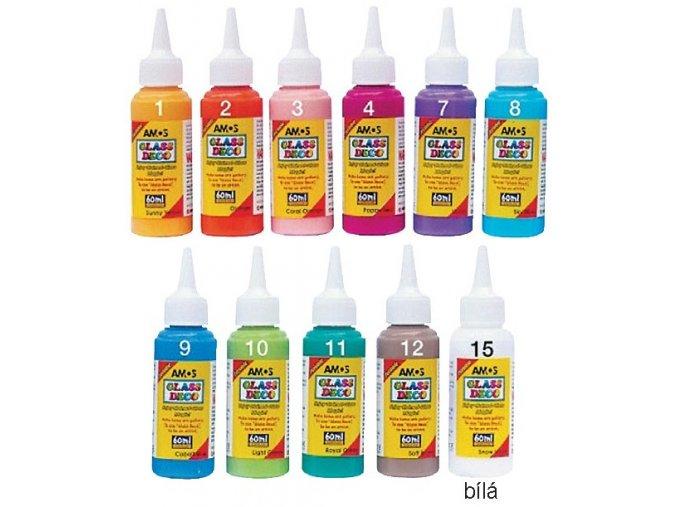 Barvy na sklo 60 ml jednotlivé
