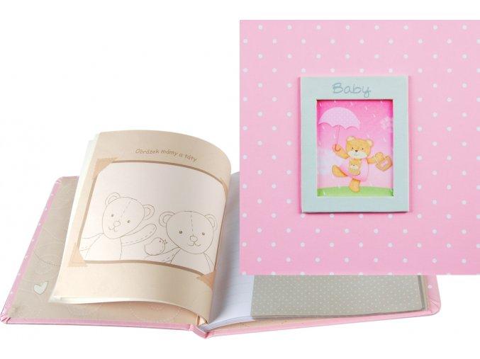 Fotoalbum 10x15 PA-4660(CB) CZ Baby růžový