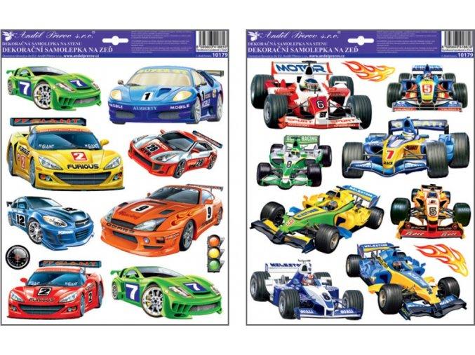 Samolepky na zeď závodní auta 10179 , 33 x 29 cm