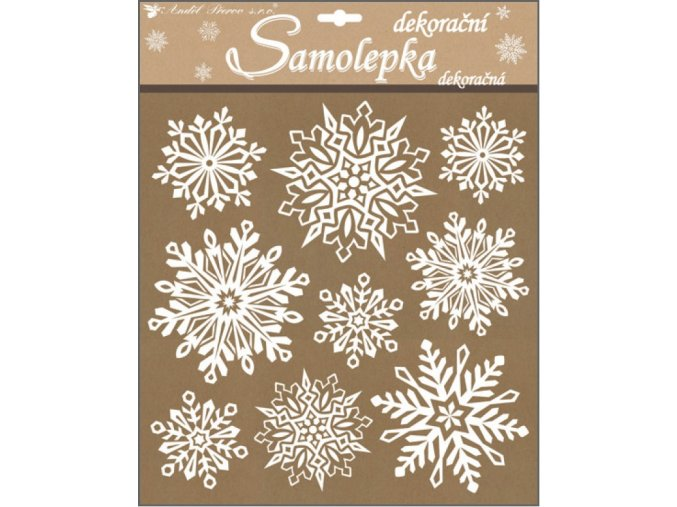 Samolepky vločky se sněhovým efektem 10307 , 31,5 x 30,5 cm