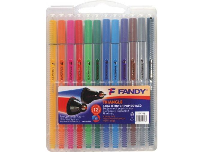 Sada jemných popisovačů triangle 12 barev - 2 POSLEDNÍ KUSY -