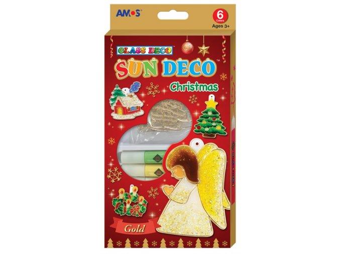 Vánoční sada barviček na sklo 6 barev 10,5 ml + 6 sklíček 1482