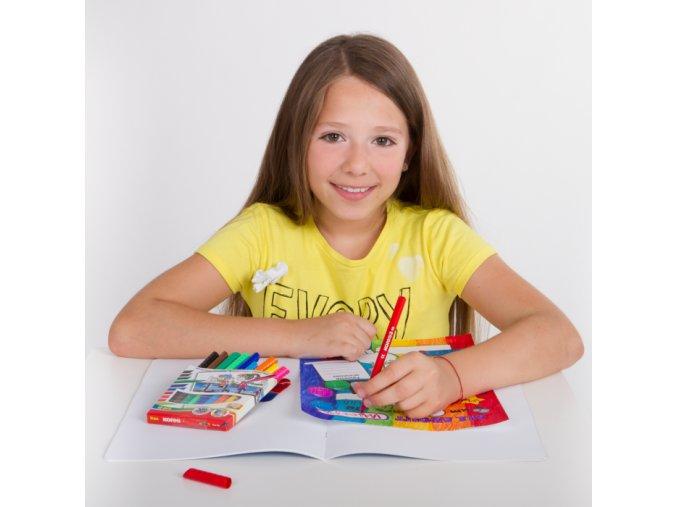 KORES Popisovač dětské fixy tenké 10ks - 2 POSLEDNÍ KUSY -