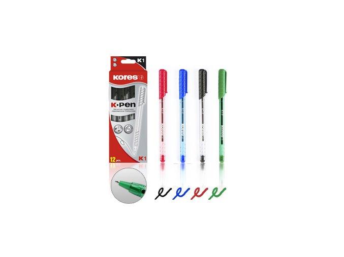 Kuličkové pero K1 PEN Modrá, Červená, Černá