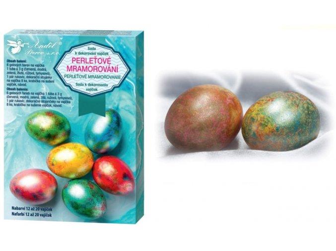 Sada k dekorování vajíček - perleťový mramor 7700