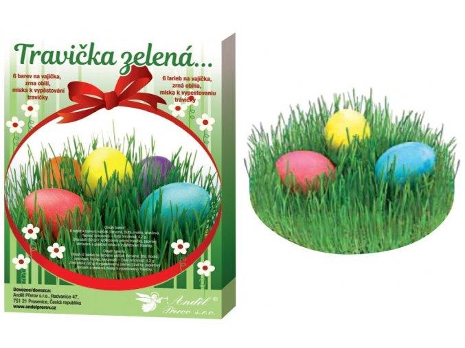 Sada k dekorování vajíček - travička zelená 7711