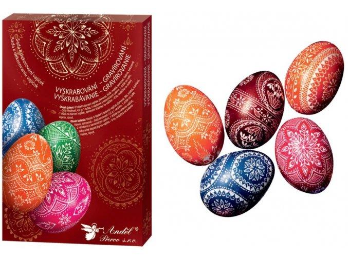 Sada k dekorování vajíček - vyškrabování 7704