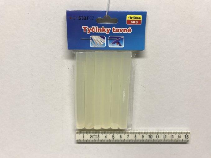 Lepící tyčinka bezbarvá 11 x 100mm 6ks