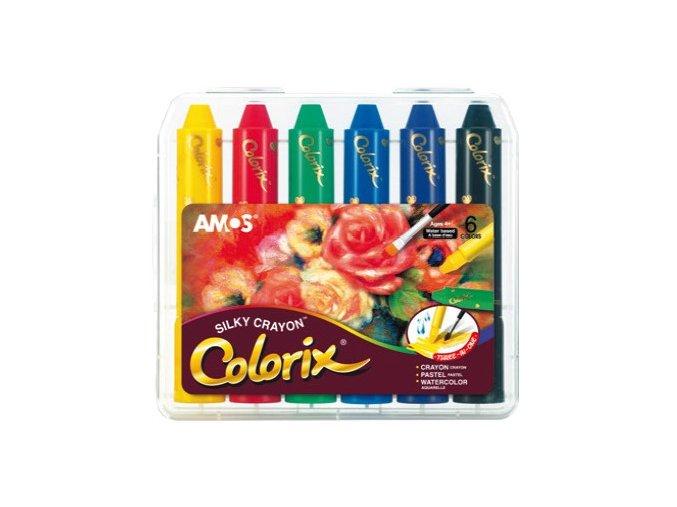 Colorix krajony, rozmývatelné barvy, 6ks v pouzdře 1603